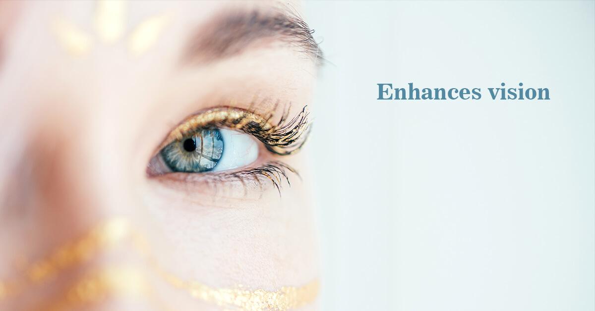 Enhances vision